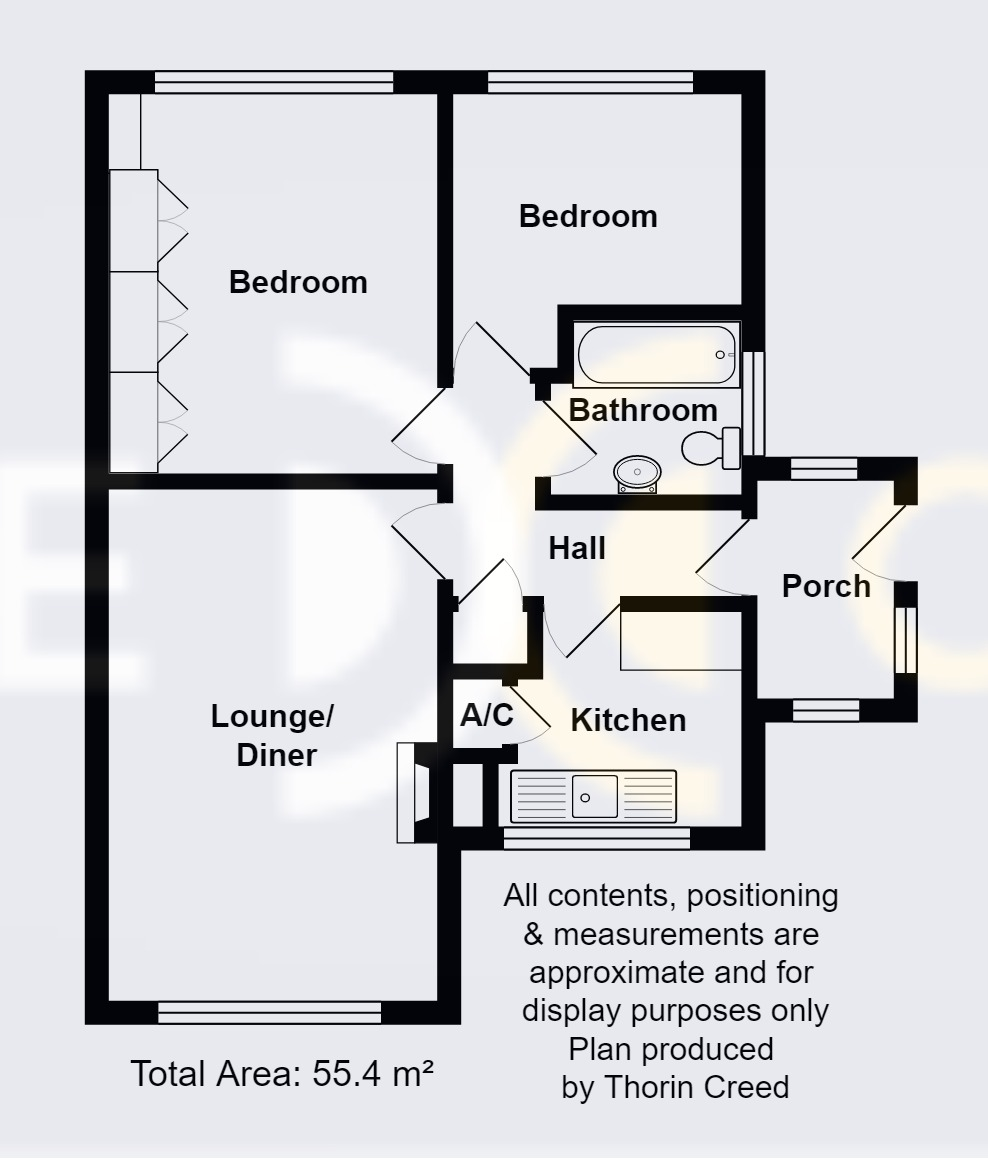 Floor plan for 2 Bedroom, Chaplin Road, Dresden